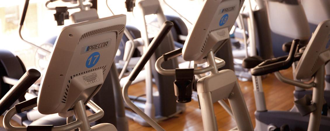 Les el·líptiques de la sala de fitness