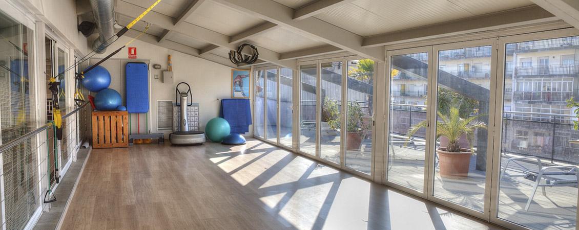 La sala de pilates i el solarium